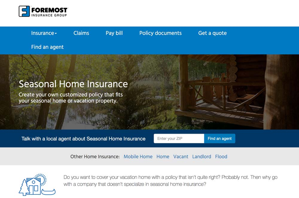 Foremost Vacation Rental Insurance