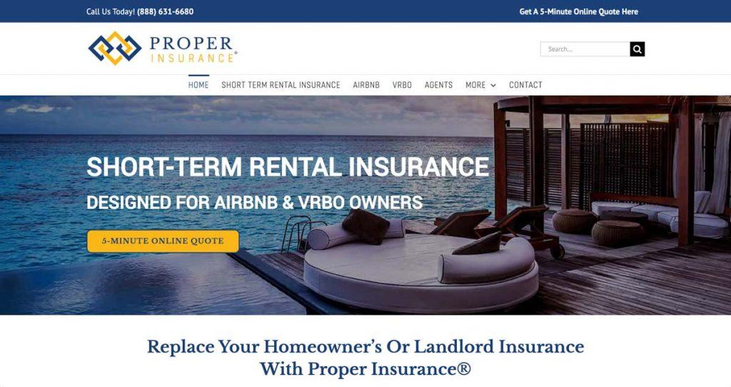 Proper Insurance - Short-term rental insurance company