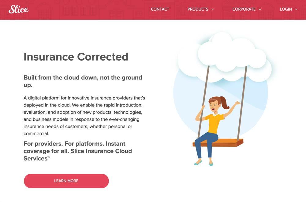 Slice Vacation Rental Insurance - Website Homepage