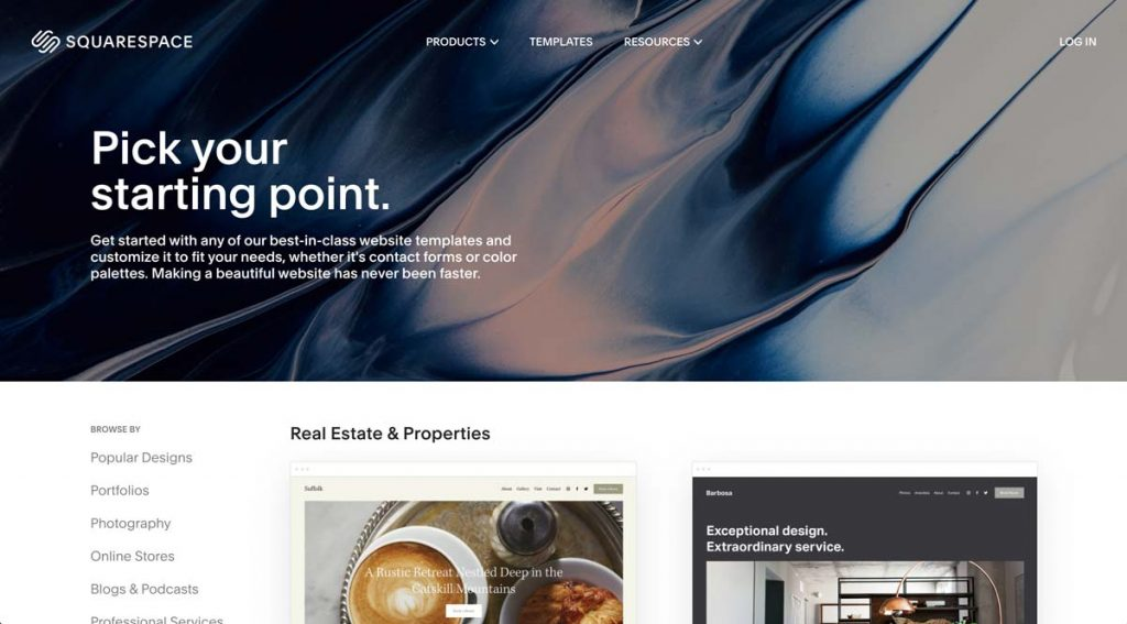 Squarespace Websites - Vacation Rental Templates
