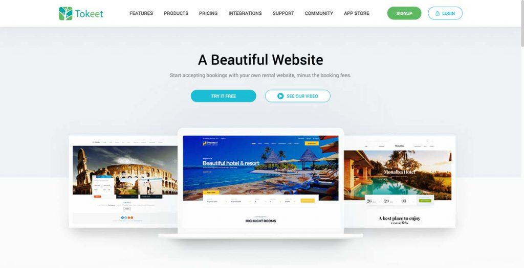 Tokeet Vacation Rental Website Builder