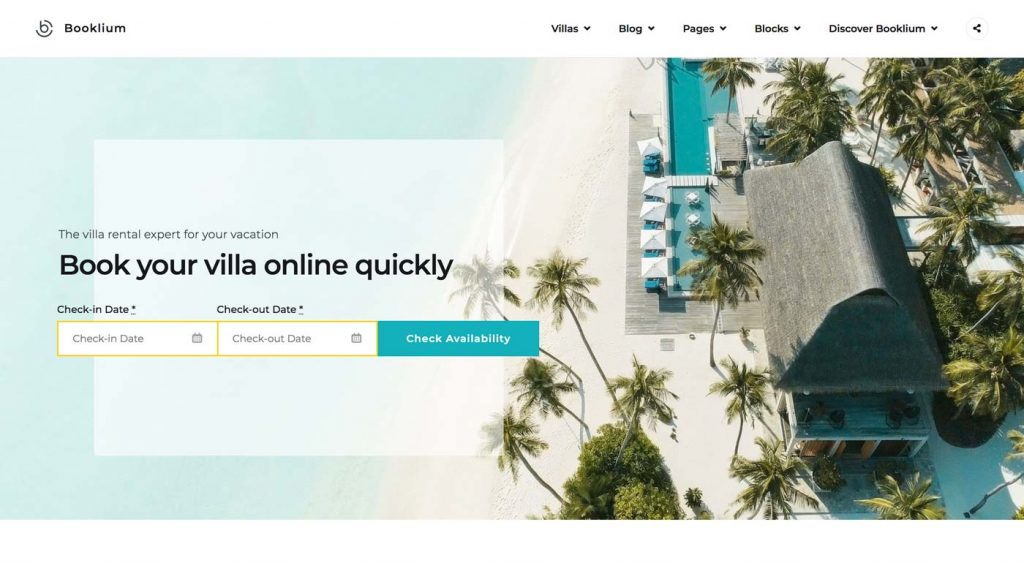 Vacation Rental WordPress Theme - screenshot
