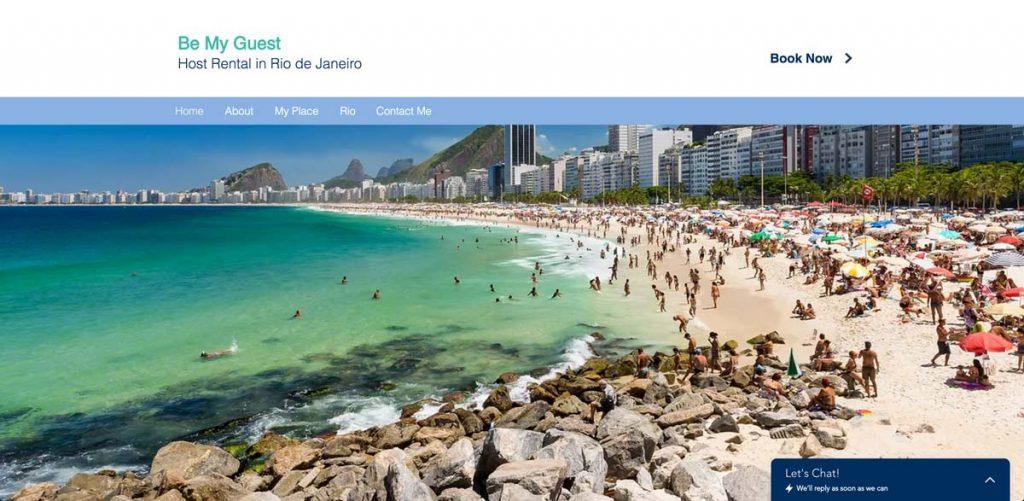 Wix Vacation Rental Website Template - Beach Rental