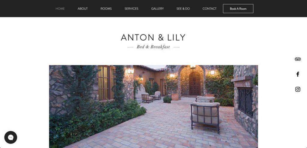 Wix Vacation Rental Website Template - B&B