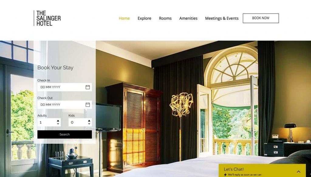 Wix Vacation Rental Website Template - Modern Hotel