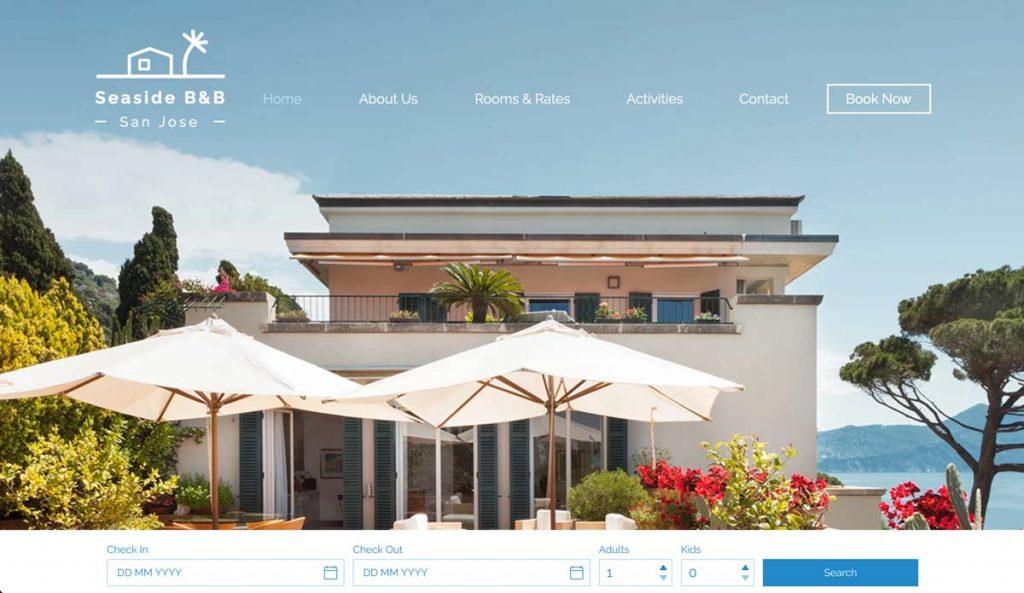Wix Vacation Rental Website Template - Seaside B & B