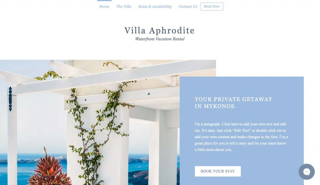 Wix Vacation Rental Website Template