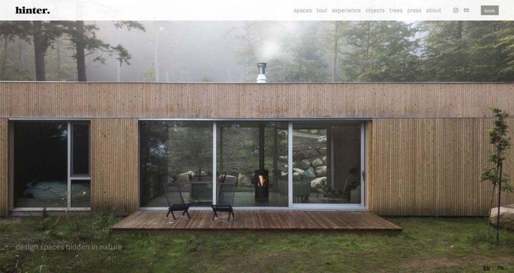 Hinter Vacation Rental Website - Squarespace + Uplisting