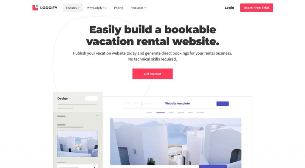 Lodgify Website Builder Feature