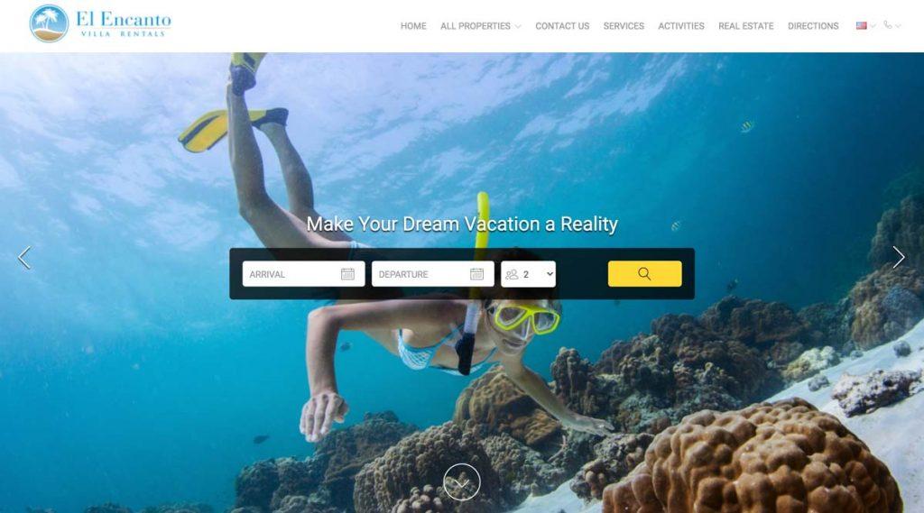 Lodgify Website Example - El Encanto Villa Rentals