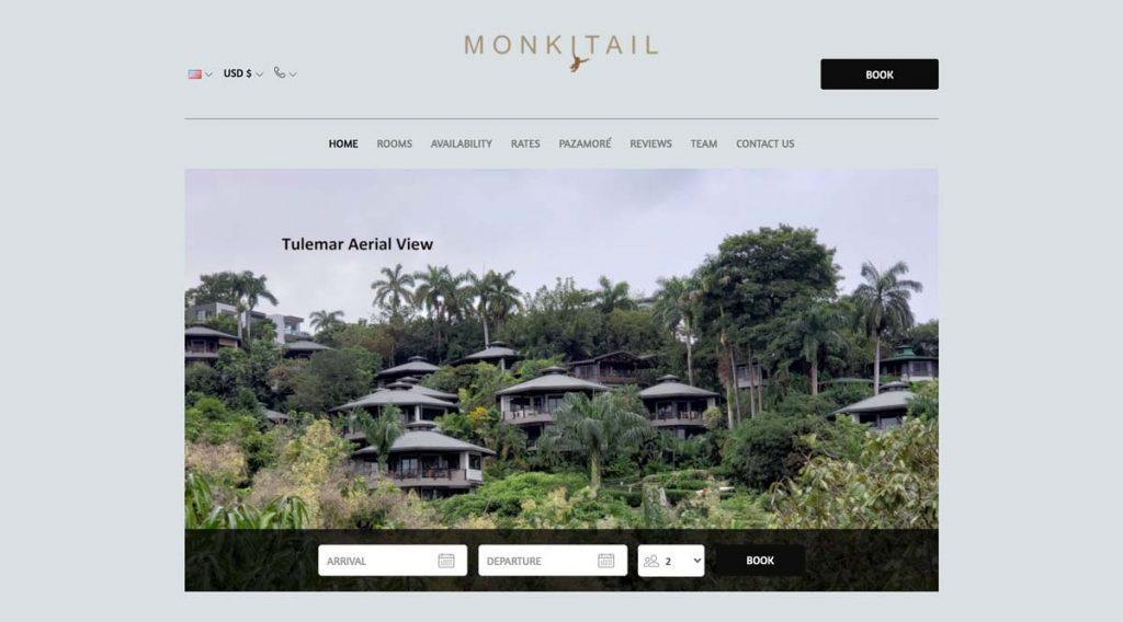 Lodgify Website Example - Monkitail