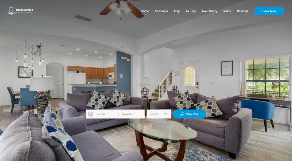 Lodgify Website Example - Roccella Villa