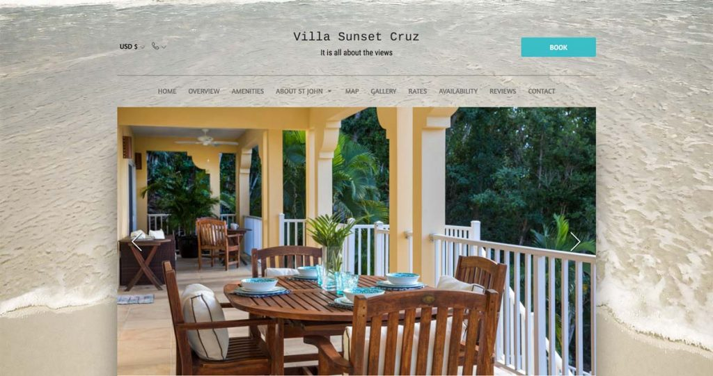 Lodgify Website Example - Villa Sunset Cruz