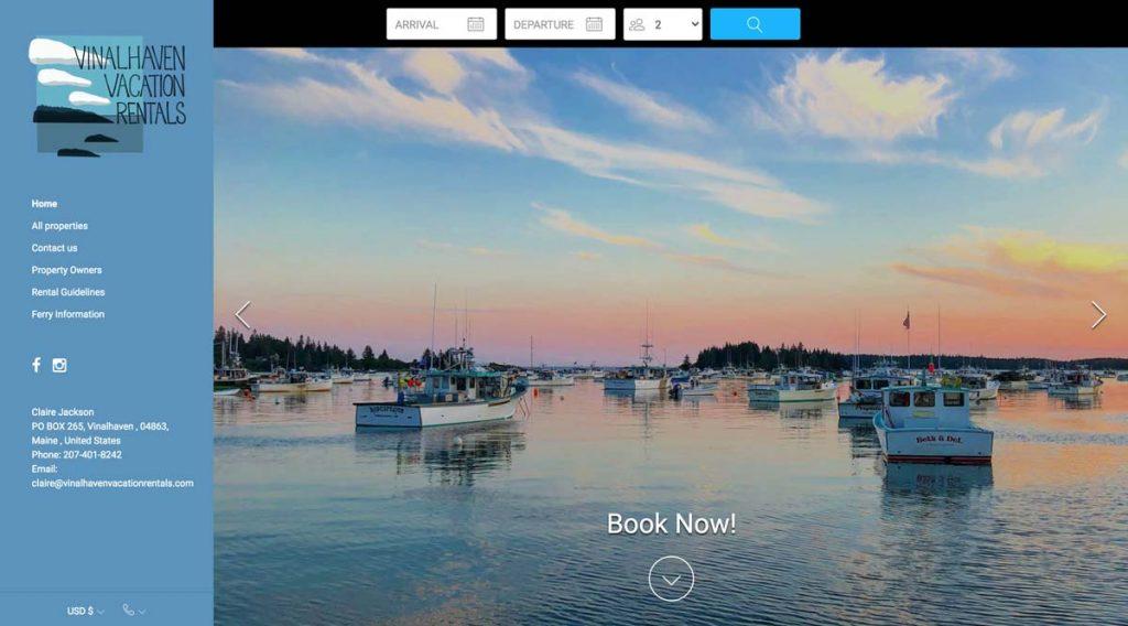 Lodgify Website Example - Vinalhaven Vacation Rentals
