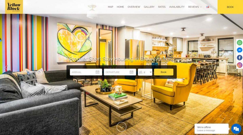 Lodgify Website Example - Yellow Block Bed & Breakfast
