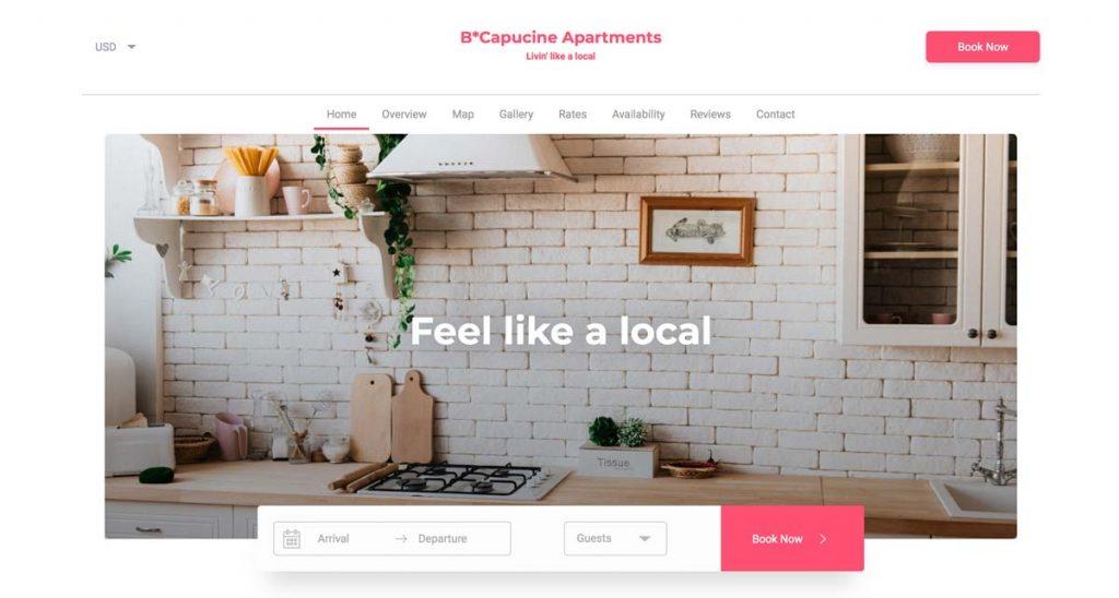Lodgify Website Template - Capucine