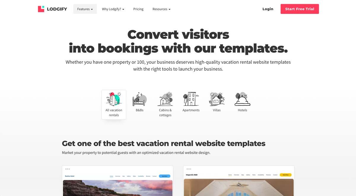 Lodgify Website Templates