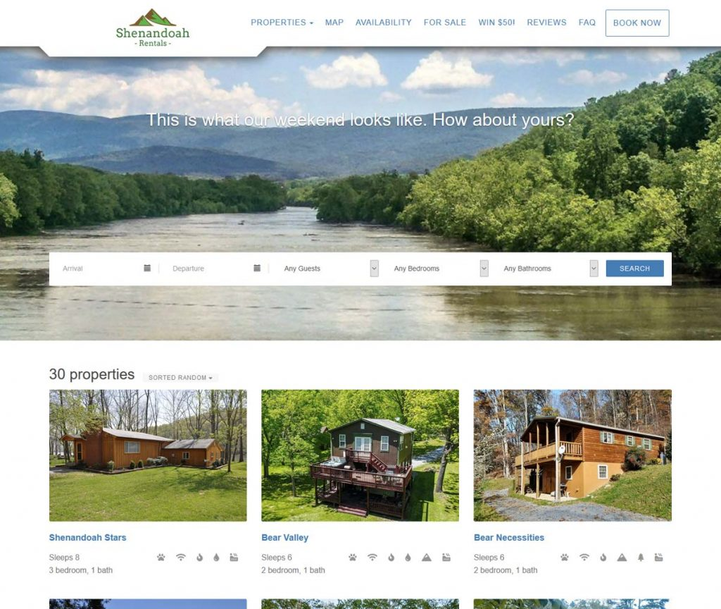 OwnerRez Vacation Rental Hosted Website Template