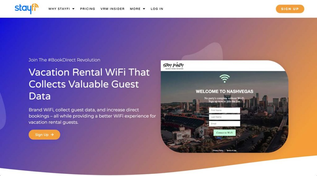 StayFi.com - Vacation Rental Marketing Software + WiFi