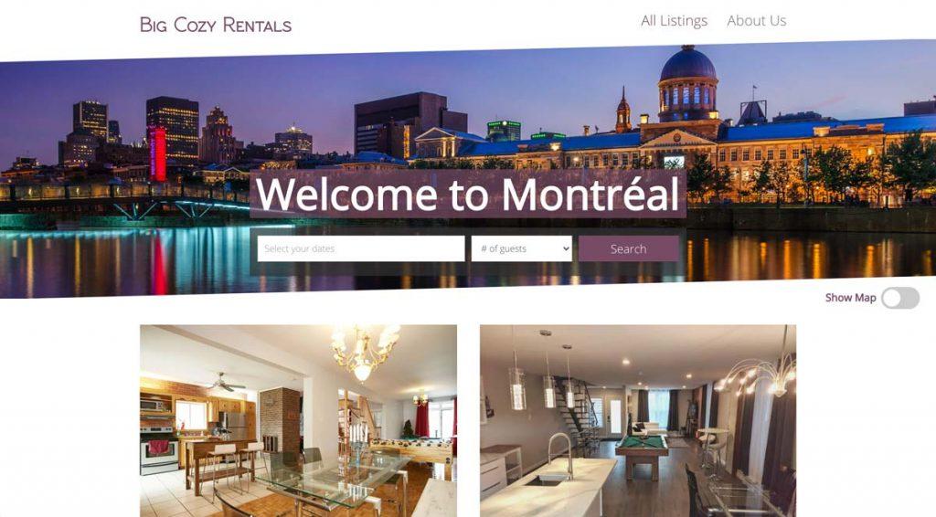 Your Porter App website example
